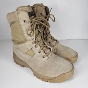 """5.11 Tactical ATAC 8"""" Coyote Brown Desert Boots"""